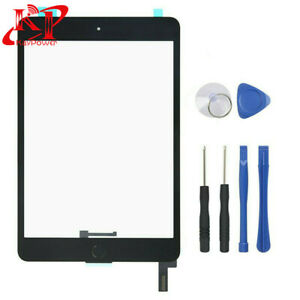 Black Touch Screen Glass Digitizer For iPad Mini 4 A1538 A1550 + Home Button Kit