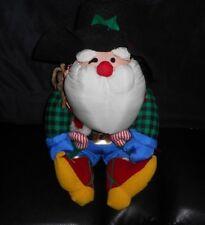 VINTAGE INTERNATIONAL SILVER CHRISTMAS COWBOY SANTA DOLL NYLON STUFFED PLUSH TOY