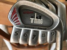 Wilson WILD THING IRONS, 3, 5, 6, 7, 8, 9, P, Steel shafts, Tour Wrap grips