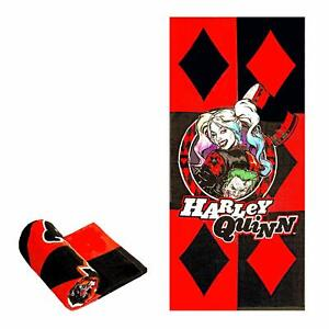 JPI Licensed DC Comics Harley Quinn Bath/Pool/Beach Towel - Red Diamond
