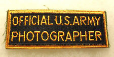 WWII PATCH OFFICIAL US ARMY PHOTOGRAPHER RECTANGLE STYLE