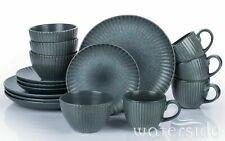 16Pc Stoneware Crockery Complete Dinner set Dinnerware Tableware Plate Bowl Mugs