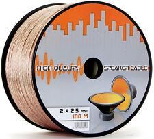 100m 2 x 2,5mm² Lautsprecherkabel Boxenkabel 2x 2,5mm Audio 100Meter Cable Hi-Fi