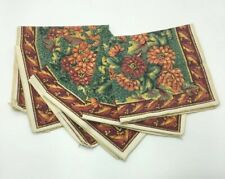 Lot of 6 Fall FLORAL Provence French Country Cotton Print Cloth Napkins