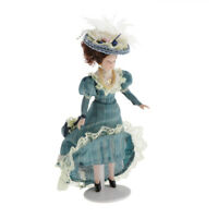 1/12 Scale Porcelain Doll Miniature for Dollhouse Classical Victorian Lady