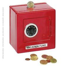 metalltresor TRESOR Piggy Bank con serratura COMBINAZIONE 14019 ROSSO Goki -