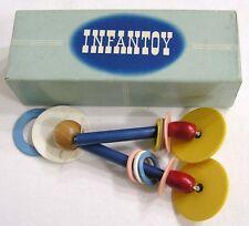 Vintage INFANTOY Crib Toy in OB Bells Wood Plastic Beads Discs 1950s