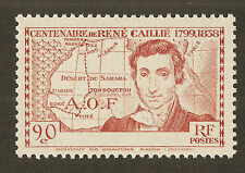"""French West Africa 1939 90c Caillie 'Error"""" Stamp - MNH(Missing Territory Name)"""