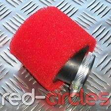 ANGLED RED 45mm PIT DIRT BIKE RACING DOUBLE FOAM AIR FILTER 125cc 140cc  PITBIKE