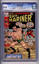 CGC (MARVEL) SUB-MARINER #30 NM+ 9.6 CAPTAIN MARVEL 1970 OW-W