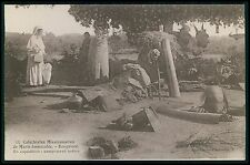 Asia INDIA Bengalore catholic Mission indien camp original old c1920s postcard