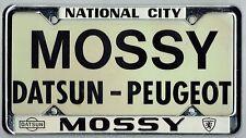 N.O.S. National City California Mossy Datsun-Peugeot Vintage License Plate Frame