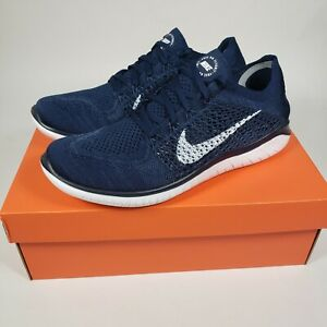 Nike Free RN Flyknit 2018 College Navy White 942838-400 Mens Size 10.5 running
