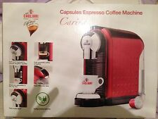 Caffe Cagliari Carina Capsules Espresso Red Coffee Machine New Boxed Uk Rrp £250