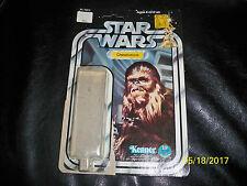 Vintage Star wars 12 back Chewbacca original cardback and bubble