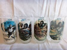 SET OF 4 DIFFERENT 1976 KING KONG MOVIE GLASSES BY COCA COLA