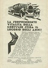 Y0051 Automobile CHRYSLER - Werbung 1928 - Werbung