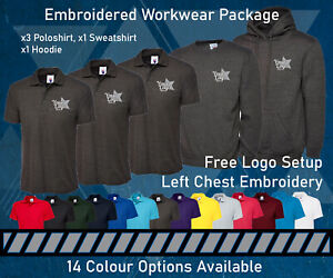 Embroidered Workwear Bundle - Personalised New Business Starter Package Clothing