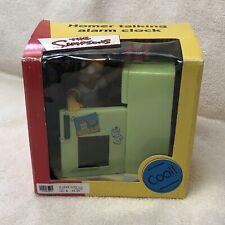 2001 The Simpsons Homer Talking Alarm Clock Brand New Wesco RARE piece!