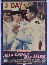 ALLA LARGA DAL MARE commedia di Walters con Glenn Ford Gia Scala fotobusta 1957