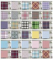 Retro Checkered Pattern Shower Curtain Fabric Decor Set with Hooks 4 Sizes