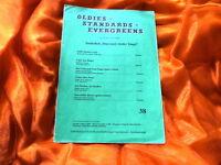 OLDIES  STANDARDS 38 - EVERGREENS (Notenheft für Klavier und Combo)