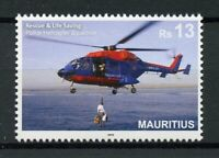 Mauritius 2019 MNH Rescue & Lifesaving Police Helicopters 1v Set Aviation Stamps