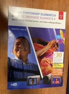 Adobe Photoshop 9 Adobe  Premiere Elements 9 Photo Video Editing - Mac/Win