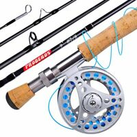 NEW Fly Rod and Reel Combo + Full Kit with Fly Box, Line, leader and Bag