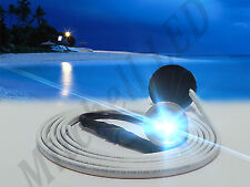"BLUE LED BRASS BOAT DRAIN PLUG FLOOD LIGHT 1800 LU GARBOARD UNDERWATER 1/2""NPT,"