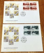 Norway Post FDC 1989.11.24. Norwegian Manor Houses - Block of Four