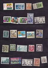 Lot of 71 Misc Used Ww Stamps Germany South Africa Australia Etc on 3 Sheets