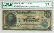$100 Third Charter (1902) Dated Back National Banknote PMG Fine 12 no reserve
