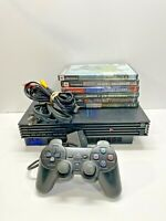 Sony Playstation 2 PS2 Fat Console SCPH-39001 BUNDLE Lot 6 Games 1 Controllers
