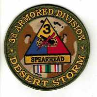 "3rd Armored Division Desert Storm 4"" Patch"