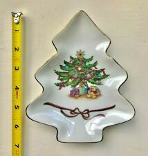 Fine Porcelain - Christmas Tree plate from Russ made in Japan