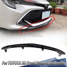 Matte Black For TOYOTA Corolla AURIS E210 5DR Hatchback Front Bumper Lip 18+