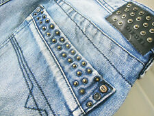 *HOT Men's DIESEL @ TIMMEN 8AT STRAIGHT LEG Metal Studs Jeans 32 x34 (Fit 31x33)