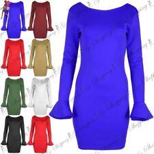 Polyester Stretch Women's Round Neck Dresses