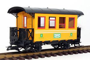 LGB/ PRIMUS 93007 Personenwagen 2-achsig, GELB, 2. Klasse, Spur G (H)