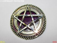 steampunk brooch badge pin silver good pentacle pentagram magic wiccan pagan