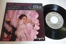 ZIZI JEANMAIRE CHANTE PARIS 45T PERGOLA 450.082 PAE PRESSAGE FRANCE. LEO FERRE.