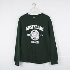 Vintage AMSTERDAM HOLLAND Green Sweatshirt Size Mens Small /R14068