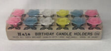 Vtg Halo Birthday Candle Holders, 2 Pkgs of 6 each, Flowers Hold Various Sizes