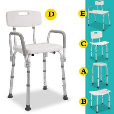 Adjustable Medical Shower Chair Stool Bathroom Tub Detachable Backrest 5 Type