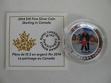 2014 Proof $10 Learning to Skate Skating Canada .9999 silver COIN&COA ONLY ten