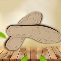 Unisex Leather Sweat Antibacterial Deodorant Cushion Foot Shoe Insoles Pads