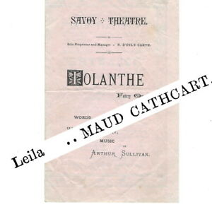 1883 Iolanthe Savoy Theatre programme D'Oyly Carte Gilbert & Sullivan opera