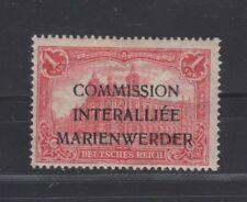 Marienwerder 1 mark large print black Medieval script surcharge, Michel 21IIa