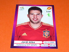 293 JORDI ALBA VALENCIA ESPAGNE ESPAÑA  FOOTBALL PANINI UEFA EURO 2012